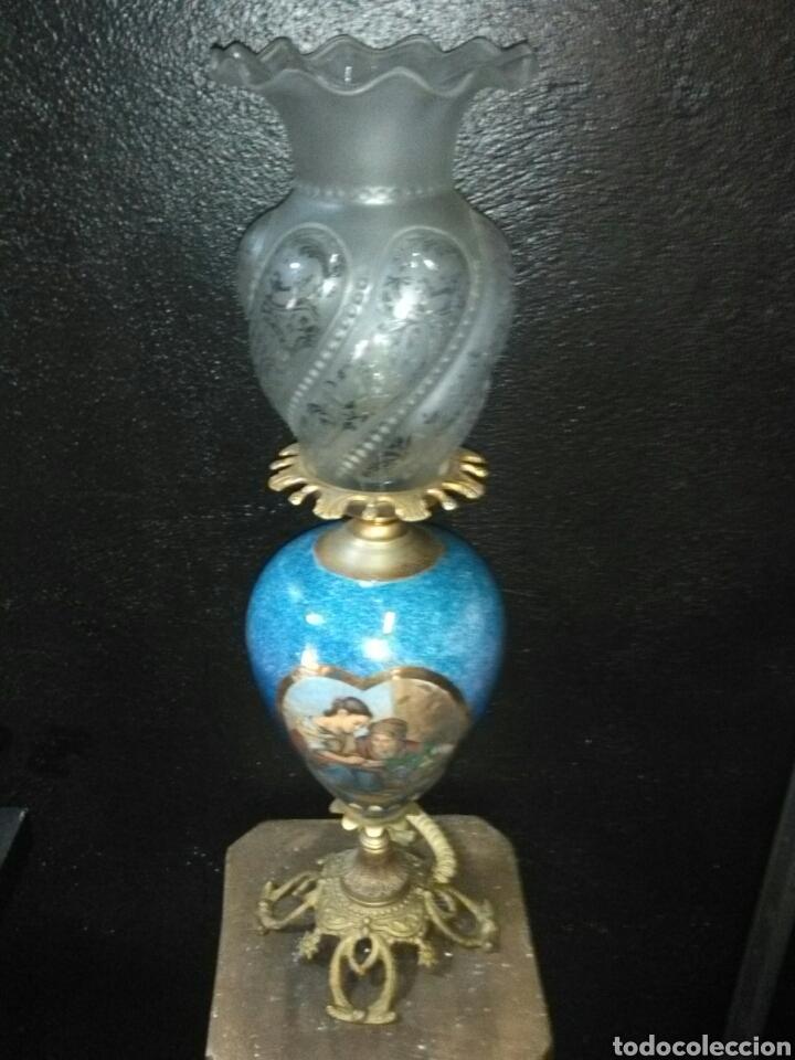 Antigüedades: PRECIOSA LAMPARA DE MESA VINTAGE - Foto 11 - 181718200
