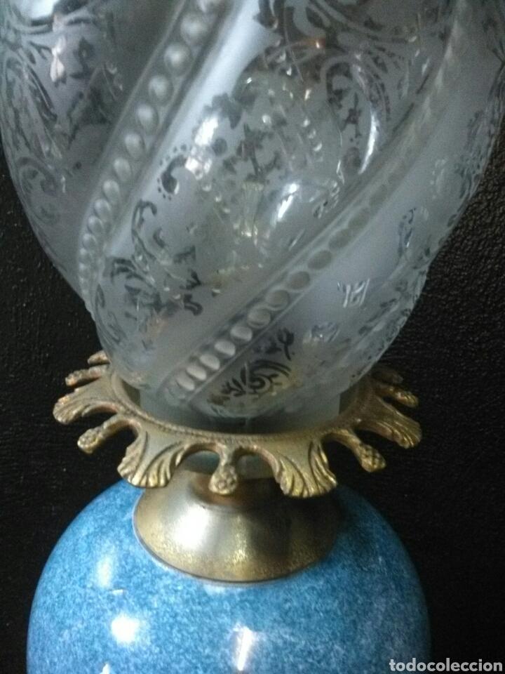 Antigüedades: PRECIOSA LAMPARA DE MESA VINTAGE - Foto 12 - 181718200