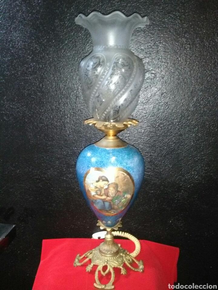 PRECIOSA LAMPARA DE MESA VINTAGE (Antigüedades - Iluminación - Lámparas Antiguas)