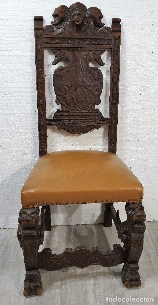 Antigüedades: DESPACHO ANTIGUO TALLADO ESTILO RENACIMIENTO ESPAÑOL - Foto 22 - 181743983