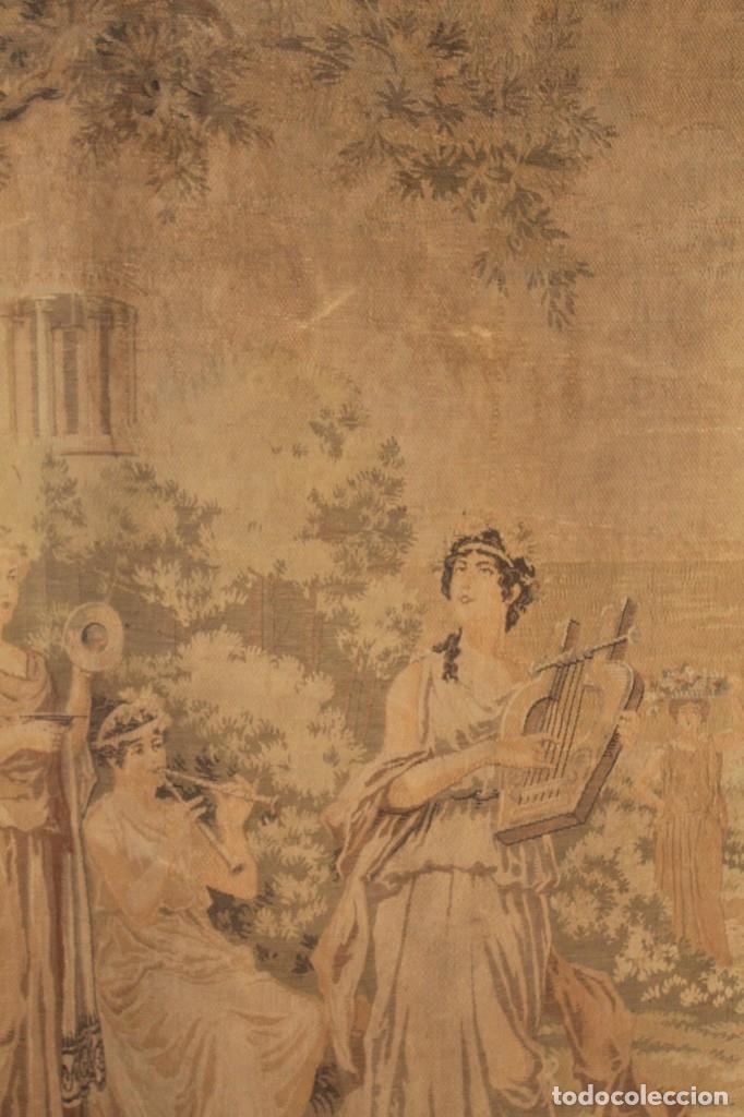 Antigüedades: Gran tapiz Gobelinos después Lionel Peraux - ca 1900 - Escena griega - 180x150cms - Foto 3 - 181745212