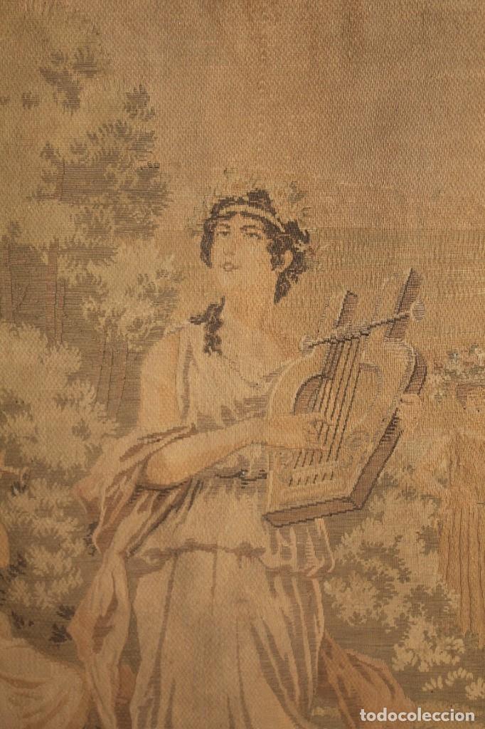 Antigüedades: Gran tapiz Gobelinos después Lionel Peraux - ca 1900 - Escena griega - 180x150cms - Foto 4 - 181745212