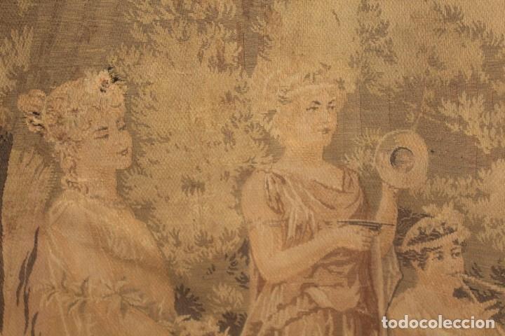 Antigüedades: Gran tapiz Gobelinos después Lionel Peraux - ca 1900 - Escena griega - 180x150cms - Foto 5 - 181745212