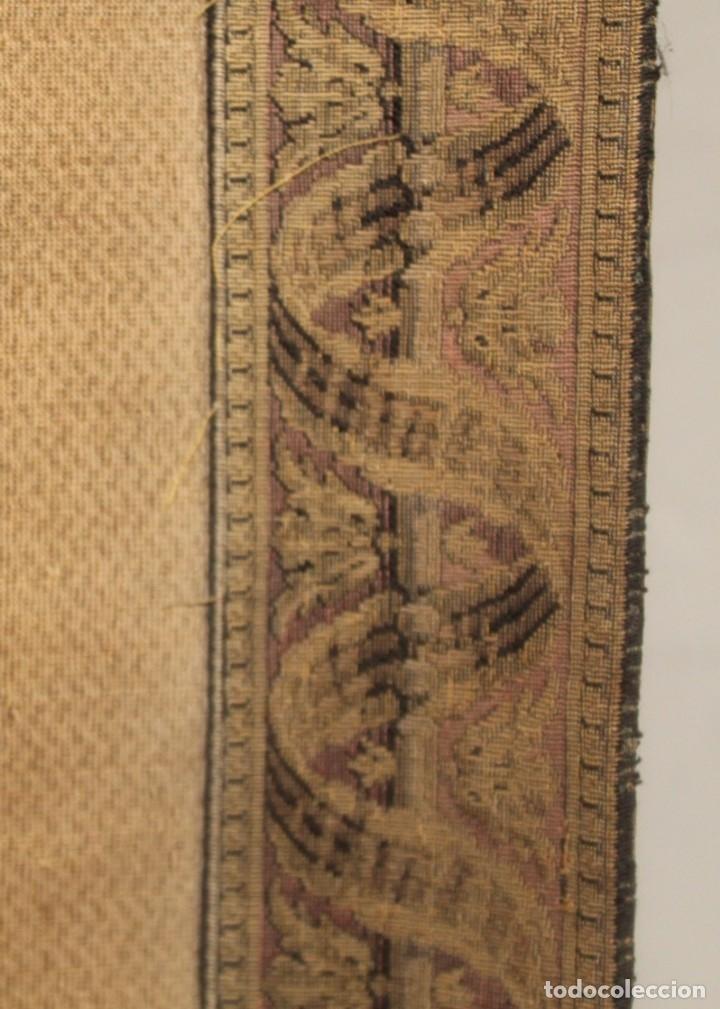 Antigüedades: Gran tapiz Gobelinos después Lionel Peraux - ca 1900 - Escena griega - 180x150cms - Foto 6 - 181745212