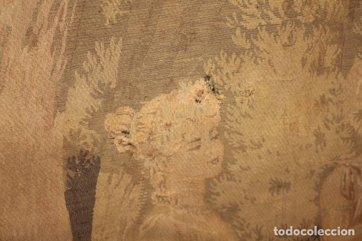 Antigüedades: Gran tapiz Gobelinos después Lionel Peraux - ca 1900 - Escena griega - 180x150cms - Foto 8 - 181745212