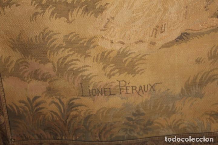 Antigüedades: Gran tapiz Gobelinos después Lionel Peraux - ca 1900 - Escena griega - 180x150cms - Foto 9 - 181745212