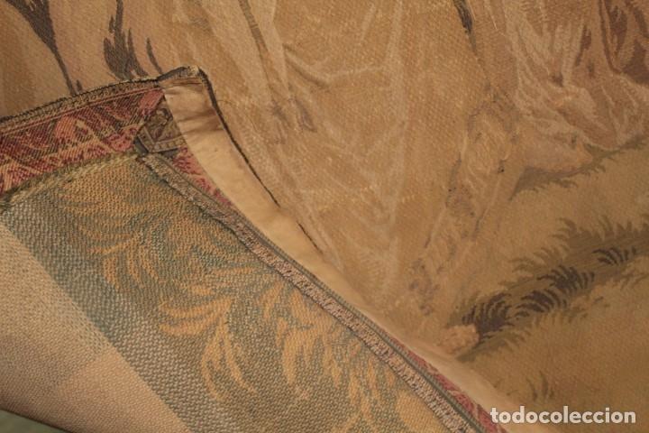 Antigüedades: Gran tapiz Gobelinos después Lionel Peraux - ca 1900 - Escena griega - 180x150cms - Foto 10 - 181745212