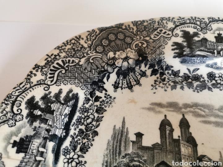 Antigüedades: BANDEJA de la Cartuja de Sevilla Pickman & CIA con dos sellos 32 x 26 cms. finales de S. XIX (Ancla) - Foto 4 - 181778841