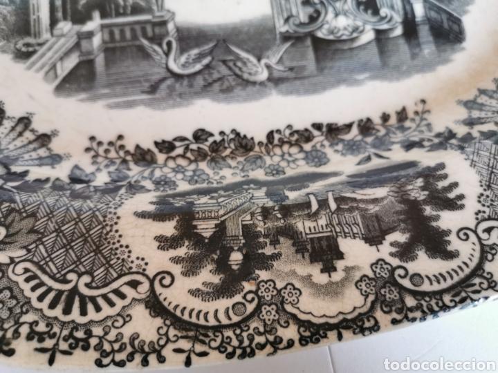 Antigüedades: BANDEJA de la Cartuja de Sevilla Pickman & CIA con dos sellos 32 x 26 cms. finales de S. XIX (Ancla) - Foto 5 - 181778841