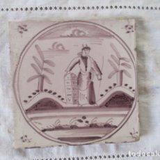 Antigüedades: AZULEJO DELFT BIBLICO. Lote 181816547