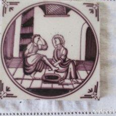 Antigüedades: AZULEJO DELFT BIBLICO. Lote 181817022