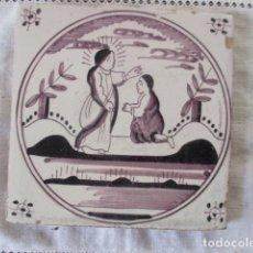 Antigüedades: AZULEJO DELFT BIBLICO. Lote 181817115