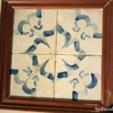 Antigüedades: CUADRO DE AZULEJOS CATALANES SIGLO XIX. Lote 181876755