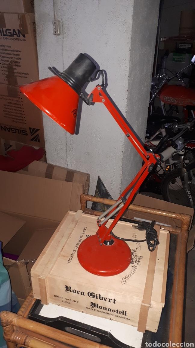 FLEXO ROJO MARCA FASE COMPLETO (Antigüedades - Iluminación - Lámparas Antiguas)
