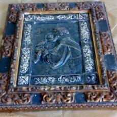 Antigüedades: PRECIOSO CUADRO CON RELIEVE DE SAN ANTONIO DE PADUA. Lote 181908022