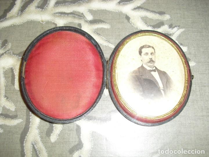 Antigüedades: PORTAFOTOS ANTIGUOS CON FOTO - Foto 2 - 181942080