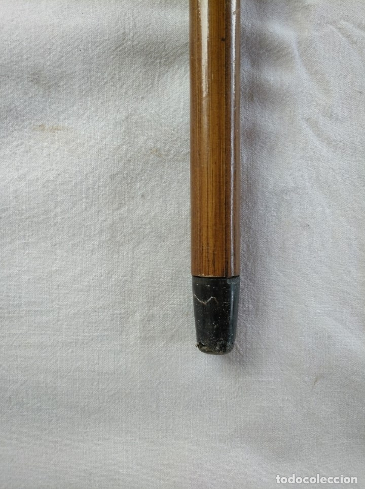 Antigüedades: ANTIGUO BASTÓN DE DOBLE USO, EN SU INTERIOR HAY UN PARAGUAS. - Foto 5 - 181944456