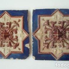Antigüedades: PAREJA DE AZULEJOS. . Lote 181949698