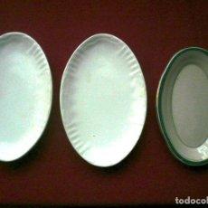 Antigüedades: FUENTE DE LA CARTUJA PICKMAN. LOTE DE 3 FUENTES: 2 DE 23 CM Y 1 DE 21 CM DE LARGO. Lote 181958205