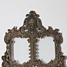Antigüedades: PORTARETRATOS DOBLE DE BRONCE AÑOS 30 (1) - BRONCE. Lote 181962680
