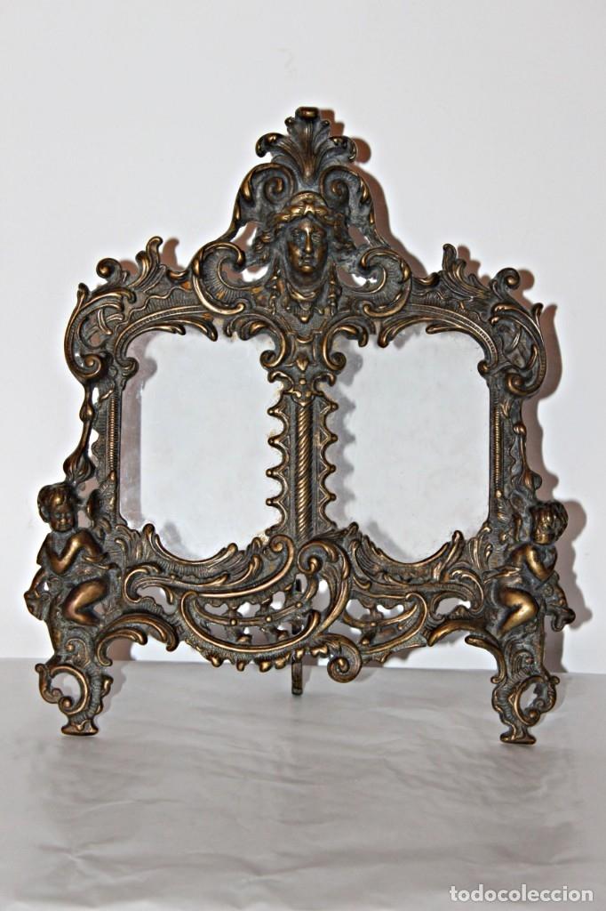 Antigüedades: Portaretratos doble de bronce años 30 (1) - Bronce - Foto 2 - 181962680