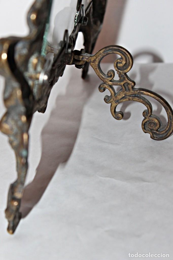 Antigüedades: Portaretratos doble de bronce años 30 (1) - Bronce - Foto 11 - 181962680
