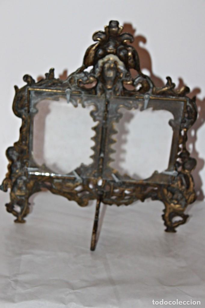 Antigüedades: Portaretratos doble de bronce años 30 (1) - Bronce - Foto 12 - 181962680