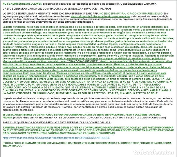 Antigüedades: EXCEPCIONAL CONJUNTO DE LEBRILLOS ANTIGUOS DE FAJALAUZA GRANADA - Foto 2 - 181976478