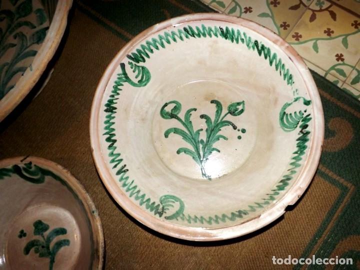 Antigüedades: EXCEPCIONAL CONJUNTO DE LEBRILLOS ANTIGUOS DE FAJALAUZA GRANADA - Foto 17 - 181976478