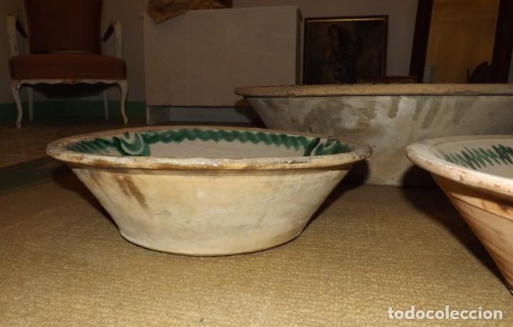Antigüedades: EXCEPCIONAL CONJUNTO DE LEBRILLOS ANTIGUOS DE FAJALAUZA GRANADA - Foto 15 - 181976478