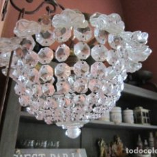 Antigüedades: LAMPARA DE TECHO CRISTALES. Lote 181983647