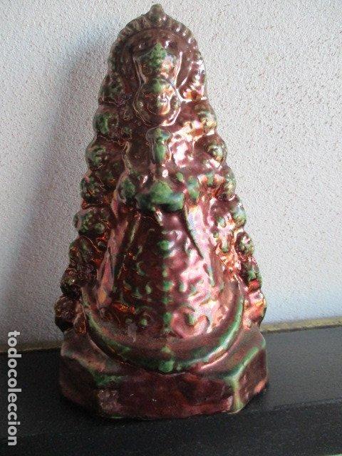VIRGEN DEL ROCIO CERAMICA REFLEJOS TRIANA (Antigüedades - Porcelanas y Cerámicas - Triana)