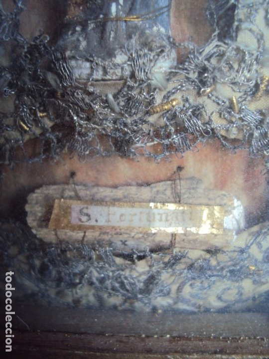 Antigüedades: (ANT-191100)ANTIGUO RELICARIO ARTESANAL MADERA Y CRISTAL - 8 RELIQUIAS - Foto 12 - 182002405