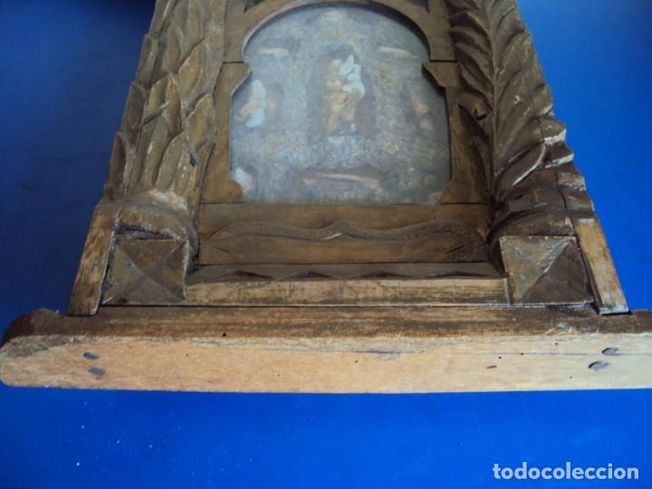 Antigüedades: (ANT-191100)ANTIGUO RELICARIO ARTESANAL MADERA Y CRISTAL - 8 RELIQUIAS - Foto 19 - 182002405