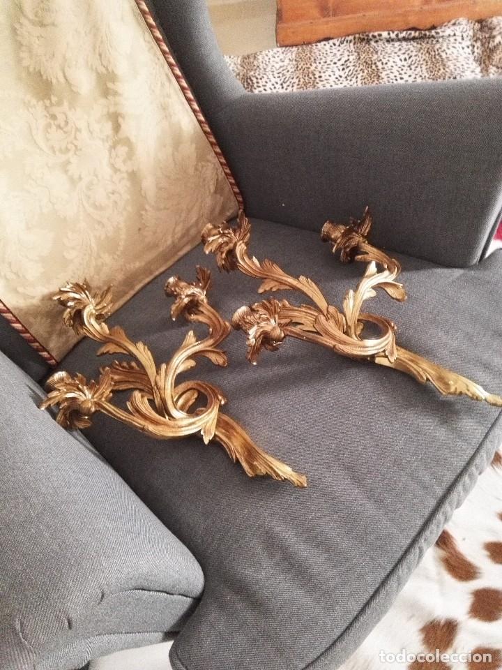 Antigüedades: Apliques estilo Luis XV, estilo rococo,barroco. - Foto 12 - 54824673