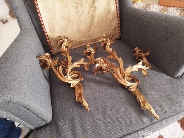 Antigüedades: Apliques estilo Luis XV, estilo rococo,barroco. - Foto 13 - 54824673