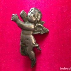 Antigüedades: ANTIGUO ÁNGEL O QUERUBIN REALIZADO EN METAL PLATEADO. Lote 182006232