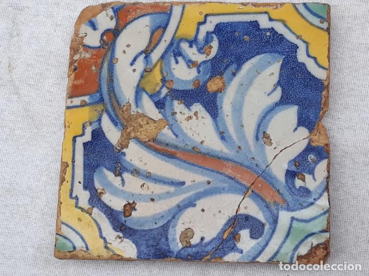 AZULEJO ANTIGUO DE TALAVERA DE LA REINA (TOLEDO ) RENACIMIENTO - SIGLO XVI - TECNICA PINTADA - (Antigüedades - Porcelanas y Cerámicas - Talavera)