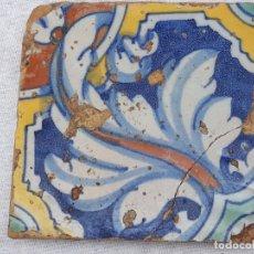 Antigüedades: AZULEJO ANTIGUO DE TALAVERA DE LA REINA (TOLEDO ) RENACIMIENTO - SIGLO XVI - TECNICA PINTADA -. Lote 182014446