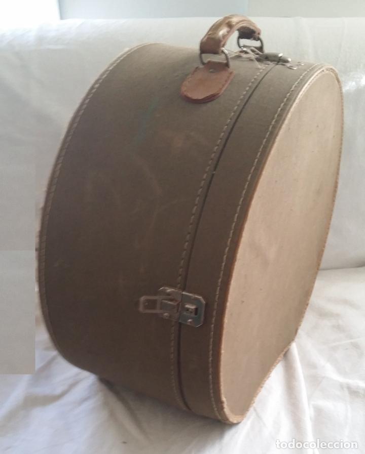 Antigüedades: Antigua sombrerera, caja, maleta para sombrero - Foto 2 - 182014477