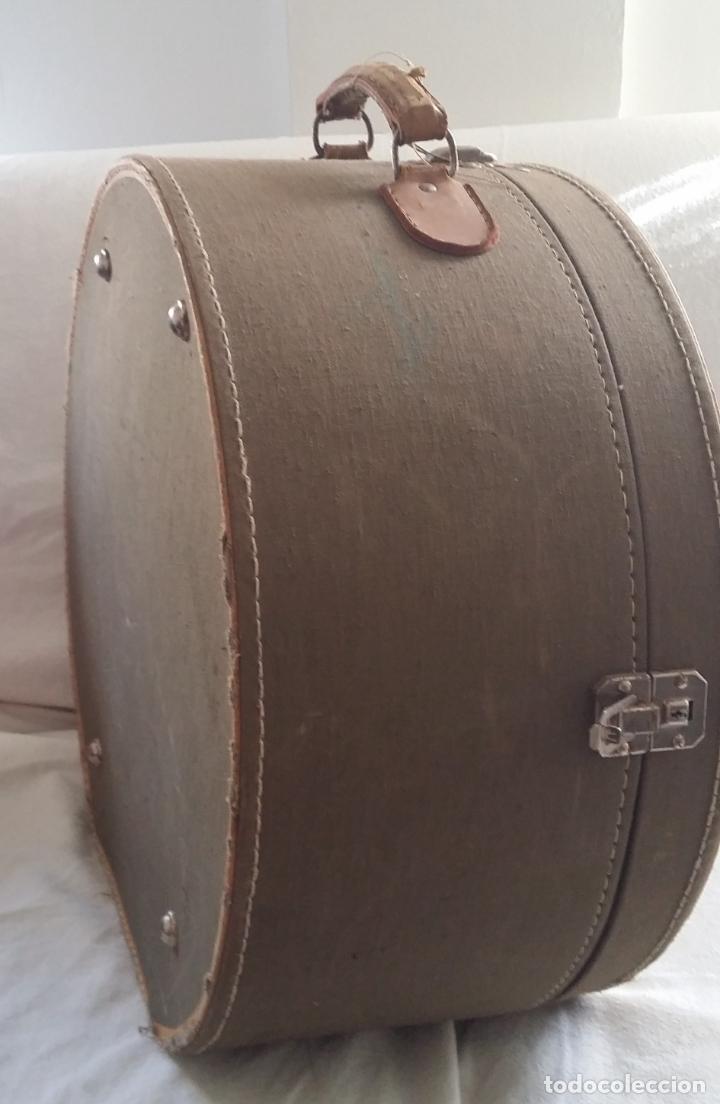 Antigüedades: Antigua sombrerera, caja, maleta para sombrero - Foto 3 - 182014477