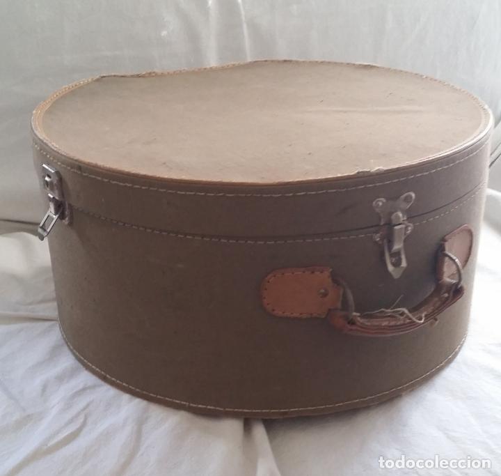 Antigüedades: Antigua sombrerera, caja, maleta para sombrero - Foto 5 - 182014477