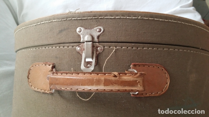 Antigüedades: Antigua sombrerera, caja, maleta para sombrero - Foto 8 - 182014477