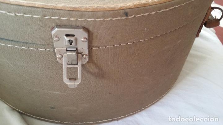 Antigüedades: Antigua sombrerera, caja, maleta para sombrero - Foto 9 - 182014477