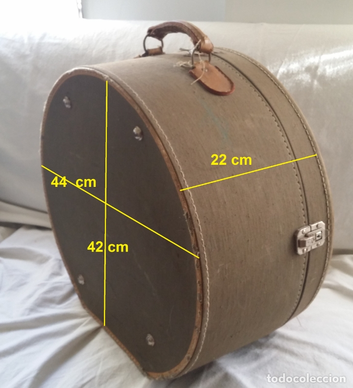Antigüedades: Antigua sombrerera, caja, maleta para sombrero - Foto 15 - 182014477