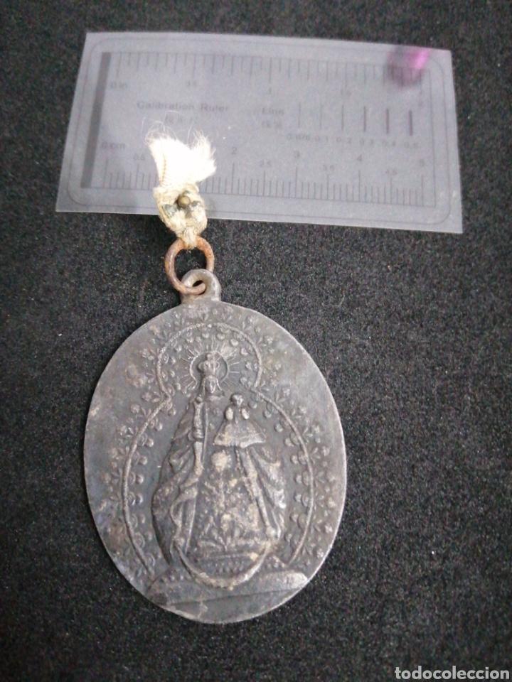 ANTIGUA MEDALLA VIRGEN DE BARBAÑO MONTIJO (Antigüedades - Religiosas - Medallas Antiguas)