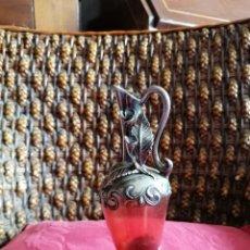 Antiquités: JARRÓN CRISTAL Y PLATA AÑOS 30. Lote 182029572
