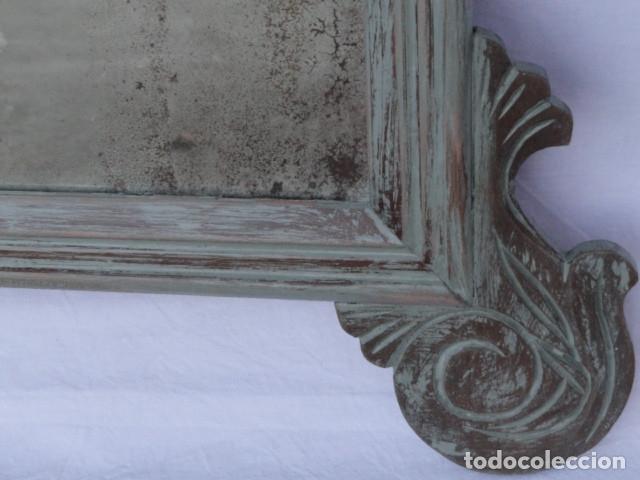 Antigüedades: ESPEJO ESTILO ISABELINO. - Foto 4 - 182033018