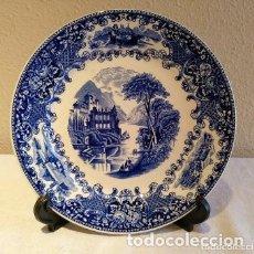 Antigüedades: MUY BONITO PLATO OLD ENGLAND DE PETRUS REGOUT PARA ROYAL SPHINX HOLANDA. Lote 182033947