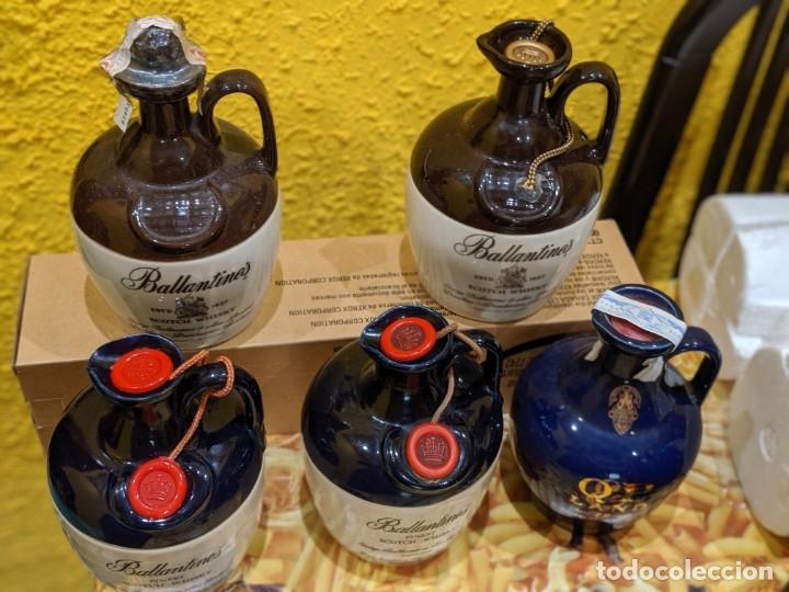 Antigüedades: whisky canecos año 1990-2000 todos llenos. - Foto 2 - 182034123